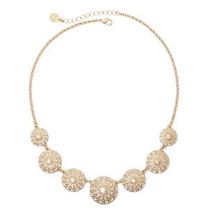 Monet Gold-Tone Crystal Collar Necklace